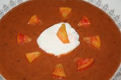 Chilled Grilled Peach Soup