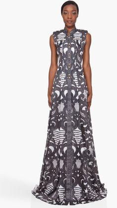 BALMAIN spirale Print Silk robe...!!!