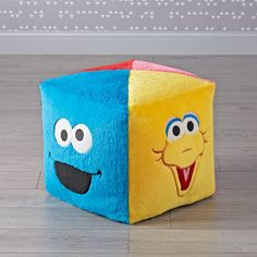 Sale ends soon. Covered in faux fur that couldn't be softer, our Sesame Street pouf has an imaginative design, with a different solid color and character on each side. How To Clean Furniture, Kids Furniture, Street Furniture, Furniture Cleaning, Furniture Market, Furniture Movers, Furniture Outlet, Playroom Layout, Giant Plush