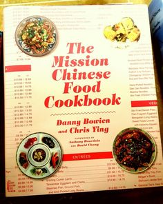 A very bad pic of a VERY good recently released cookbook....Danny Bowien is one of the most exciting new cats ..if you love Chinese food, find out what he did at Mission Chinese.
