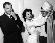 Marlon Brando with Singer Eileen Barton and Wally Cox in Las Vegas 1953.