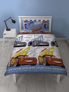 Disney Cars 3 Lightning Single Duvet Cover Set Polyester £13.95 Free UK Delivery