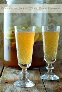 Sparkling Apple-Pear Mock Sangria
