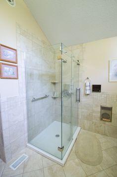 Bathroom Makeover - Bathroom Remodel - Re-Bath Remodel - Bathroom Trends - Walk-in Shower, All Glass Shower, Frameless Shower,