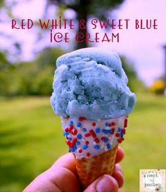 Red White & Sweet Blue Ice Cream