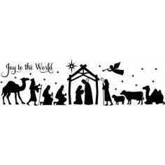 Silhouette Design Store - View Design #70556: full nativity