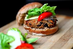 Mushroom and Quinoa Vegan Burger