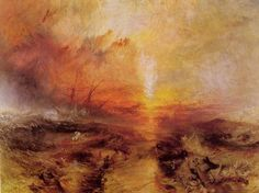 Turner, Joseph Mallord William: Sklavenhändler werfen die Toten und die Sterbenden über Bord – Typhon kommt herbei (Slavers throwing overboard the Dead and Dying – Typhon coming on)