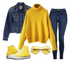 """Untitled #8"" by fodornikolett on Polyvore featuring Paige Denim, Topshop, Converse and Wildfox"