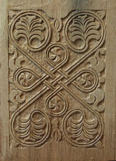 Panel carved by Peter Follansbee, based on an original dated to probably 1630s.
