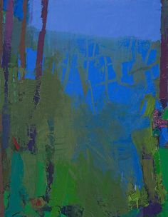 "Art by Brian Rutenberg -- Moon Bend; 2014-2015; Oil on linen; 58"" x 46"" [BR 45]"