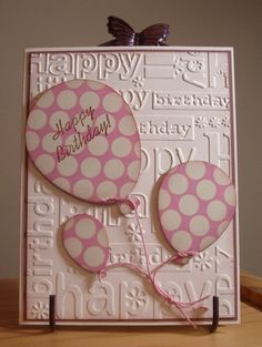My Stamping Addiction: Birthday Balloons Bday Cards, Kids Birthday Cards, Birthday Images, Birthday Ideas, Homemade Birthday Cards, Homemade Cards, Making Greeting Cards, Greeting Cards Handmade, Making Cards