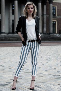 Blue stripe pant