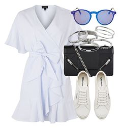 """""""Untitled #6616"""" by laurenmboot ❤ liked on Polyvore featuring Topshop, Yves Saint Laurent, Superga and Kendra Scott"""