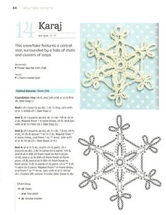 Crochet Star Patterns, Crochet Snowflake Pattern, Christmas Crochet Patterns, Crochet Snowflakes, Crochet Patterns Amigurumi, Crochet Instructions, Crochet Diagram, Crochet Motif, Crochet Doilies