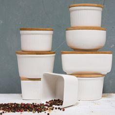 Porcelain Jars with Bamboo by Sostrene Grene