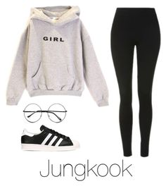 """Casual date with Jungkook"" by infires-jhope ❤ liked on Polyvore featuring Topshop, adidas Originals and Retrò"
