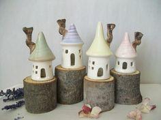 Fairy Houses -- Cute way to display