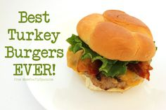 The Best Turkey Burger Recipe EVER! - Happiness is Homemade