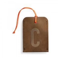 Kofferanhänger DIN braun Alphabet-31
