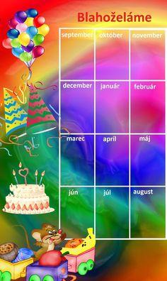 kalendár osláv