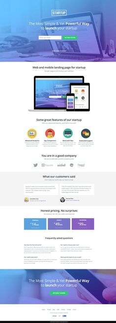 Unbounce landing page template from Themeforest
