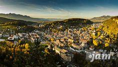 Feldkirch vom Stadtschrofen im Herbst 2011, Austria