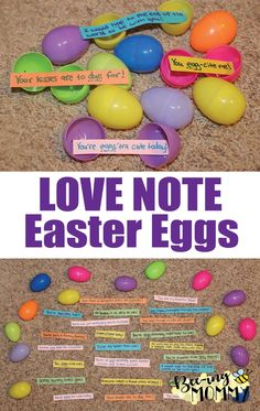 Easter basket for girlfriendboyfriend im so hoppy youre in my love note easter eggs fill plastic eggs with cute sayings candy and hide them negle Image collections