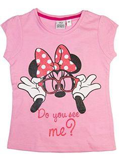 Minnie Mouse oficial niña camiseta de manga corta partir de 3,4,6,8años Rosa rosa 3 años #camiseta #friki #moda #regalo