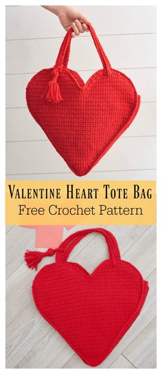 Valentine Heart Tote Bag Free Crochet Pattern