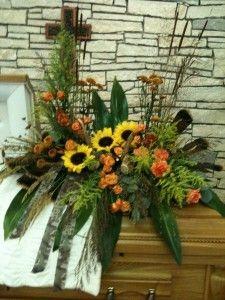 Masculine Funeral Sprays | Sympathy Flowers > Casket Flowers