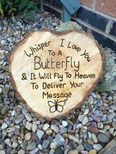 Whisper I Love You to a Butterfly & it will fly to heaven to deliver your message. ♡