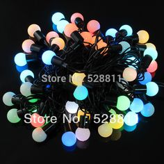 Find More LED Bulbs & Tubes Information about Free shipping for rgb ball string light led colorful holiday decoration bulb lamp 25pcs bulb per sets black PVC cable materials,High Quality led light for decoration,China led home decor Suppliers, Cheap led lights table decorations from GOODEN LIGHTING CO.,LIMITED on Aliexpress.com