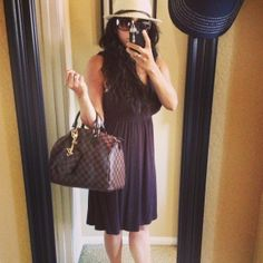 Target dress, Marc by Marc Jacobs sunglasses and Damier Ebene Speedy