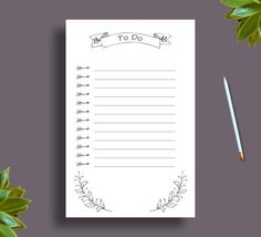 Printable To Do List | Printable Planner Half Size Us Letter | To Do List Planner | Rustic Wedding Planner