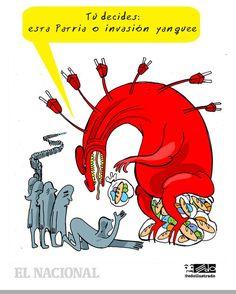 """Esta es la caricatura de @edoilustrado de este miércoles: """"Tú decides: esta patria o invasión yanquee"""" - http://www.notiexpresscolor.com/2017/09/06/esta-es-la-caricatura-de-edoilustrado-de-este-miercoles-tu-decides-esta-patria-o-invasion-yanquee/"""