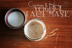 Cinnamon honey yogurt face mask