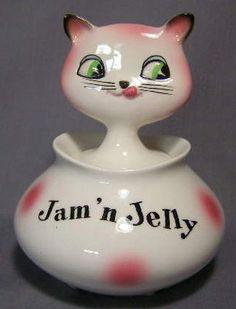 Holt Howard Cozy Kitten Jam 'n Jelly Jar..I love anything Holt Howard