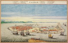 A pictorial view of Fort Zeelandia and the town of Anping (Tainan) in the 1660s, an important trading post of the Dutch East India Company [1875x1198]