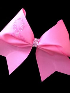 Breast Cancer Awareness Cheer Bow Cheerleading   by Bowfriendz, $15.00