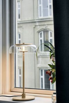 Introducing New Danish Lighting Brand, Nuura - Blossi_table_lamp Light Table, Lamp Light, Nordic Lights, Contemporary Table Lamps, Window Sill, Lamp Design, Glass Shades, Desk Lamp, Lounges