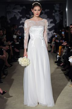 If you want to look and feel like a Princess on your wedding day, opt for long sleeves for that classic, and quite royal, look. (See Kate Middleton and Grace Kelly if you don't believe us.) Ever since Duchess Kate stepped out in her Alexander McQueen gown, designers have been adding wrist-length lac