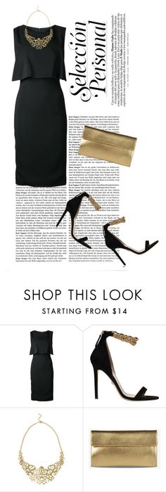 """""""Black and Gold"""" by eve4ever ❤ liked on Polyvore featuring Sally Lapointe, Versace and Maison Margiela"""