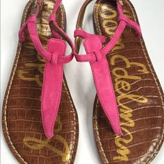 Sam Edelman Pink Suede Sandals NWT and box in excellent condition never worn. These cute pink suede strap sandals are just so cute for spring and summer! Sam Edelman Shoes Sandals