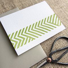 A neat twist on the chevron pattern and other lovely letterpress cards (via Dahlia Press)