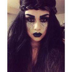 halloween make up...a dark malefic mermaid...