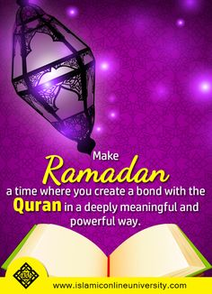 Ramadan, the month of Quran. Bring yourself closer to Allah by reciting His words. Recite, reflect and act on it!