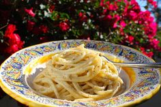 "<p>This is an authentic Italian dish and you just won't believe how such an easy recipe can taste so incredibly good! <a href=""http://christinascucina.com/2014/11/casa-lawrence-and-a-recipe-for-spaghetti-cacio-e-pepe-spaghetti-with-pecorino-cheese-and-black-pepper-part-2.html"">GET THE FULL RECIPE HERE</a></p>"