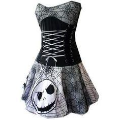 Nightmare Before Christmas spiderweb corset dress handmade custom size smarmyclothes