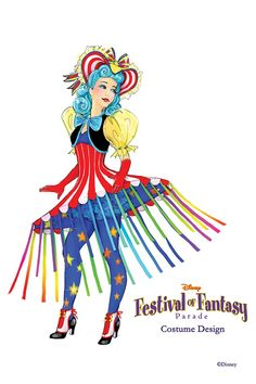 Disney Festival of Fantasy Parade Costumes - Cha Cha Girl concept art Art Disney, Disney Concept Art, Disney Kunst, Disney Style, Disney Fantasy, Disney Cosplay, Adult Mickey Mouse Costume, Frozen Costume Adult, Couple Halloween Costumes For Adults
